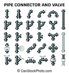 Pipe connector vector
