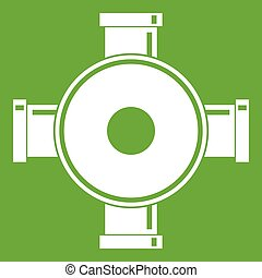 Pipe fitting icon green