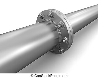 Pipe fitting. Image with clipping path