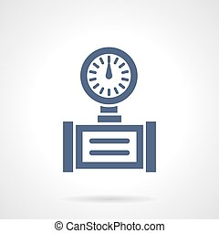 Pipe gauge glyph style vector icon