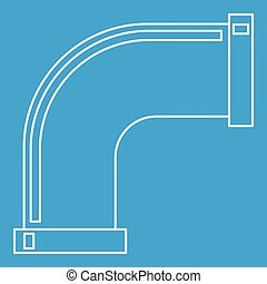 Pipe icon, outline style