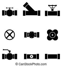 pipe icon set