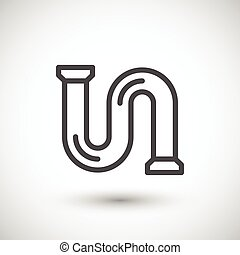 Pipe line icon isolated on grey. Vector illustration
