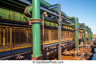 pipe line production factory sugar