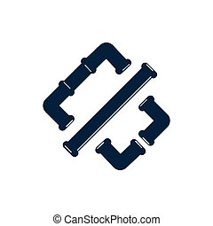 Pipe logo icon design template vector illustration