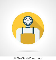 Pipe manometer round color flat vector icon
