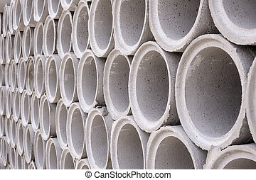 Pipe of cement for building trade