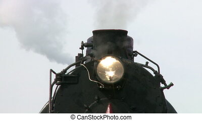 Pipe of steam engine train