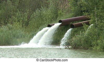 Pipe outlet   - Pipe outlet into a river. Version:720/60p