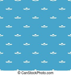 Pipe pattern vector seamless blue