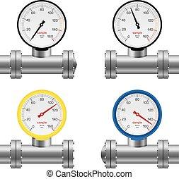 pipe pressure gauge set