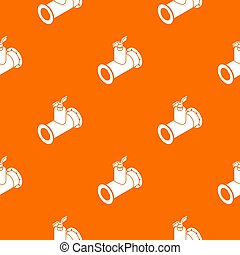 Pipe tap pattern orange for any web design best
