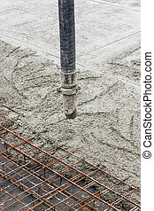 Pipe with concrete. - Pipe with concrete - construction...