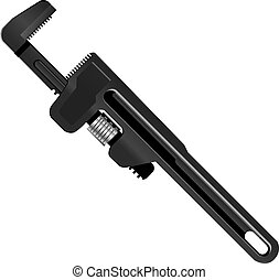 Pipe wrench for industrial work