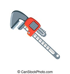 pipe wrench tool on white background vector illustration design