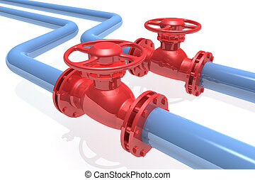 Pipeline - 3D rendered pipeline isolated on white background