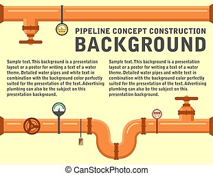 pipeline concept background
