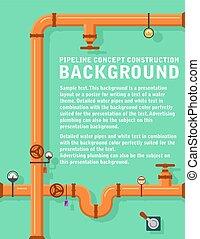 pipeline concept construction background