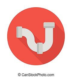 pipeline flat icon