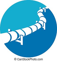 pipeline flat icon (pipeline button)