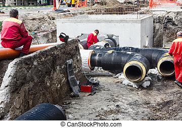 pipeline., lavorativo, lavoro