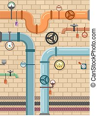 pipeline on plumbing concept background