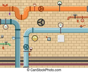 pipeline plumbing background