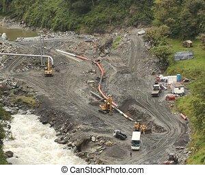 pipeline, réparation, équateur, huile