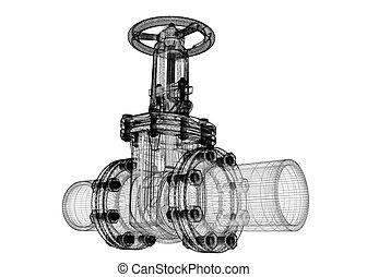 pipeline, robinet d'arrêt