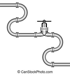 Pipeline. - The zigzag pipeline on a white background. On...
