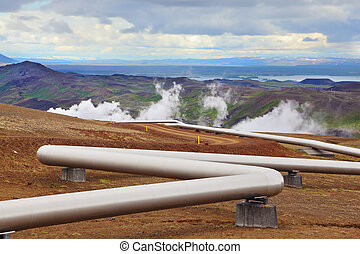 Pipeline to hot water - Pipeline to transport hot water....