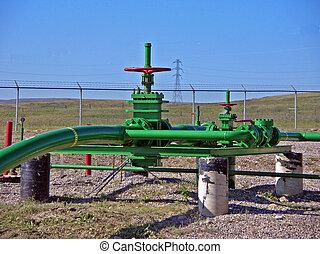 pipeline valve - valve on a gas pipeline