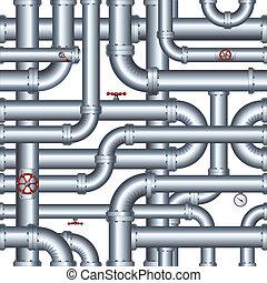 pipeline., vetorial, isolado, ilustração, seamless