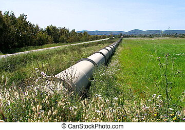 pipeline water transport in sardinia