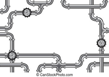 pipelines with valve and lots of copy space frame for...