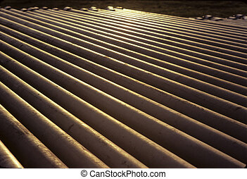 Pipes Backlight - Pipe yard for the storage and ready for...