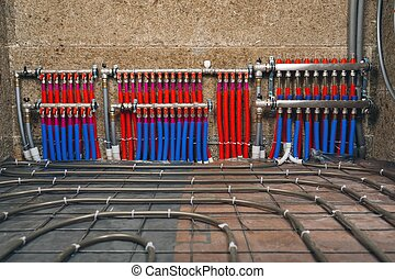 pipes collector of underfloor heating system