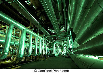 Pipes inside energy plant Pipes inside energy plant Pipes inside