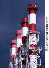 Pipes of energy plant
