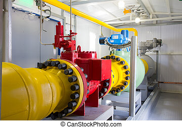 pipes of power plant - pipes of thermal power plant