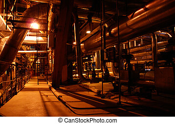pipes on factory