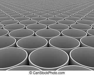 Pipes - Illustration of set of pipes on one territory
