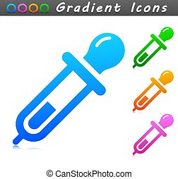 pipeta, símbolo, diseño, icono, vector