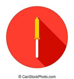 Pipette Circle Icon