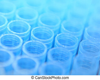 Pipette plastic tips - Macro of some pipette plastic tips in...