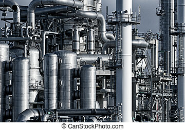 pipework, indústria óleo, fábrica