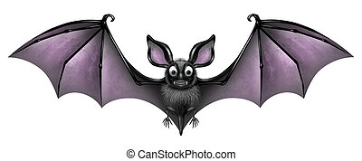 pipistrello, isolato