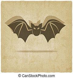 pipistrello, vecchio, fondo