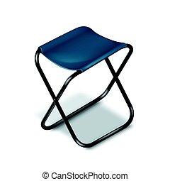 pique-nique, chaise, plier