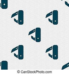 piquenique, padrão, sinal., seamless, vetorial, geomã©´ricas, faca, texture., ícone